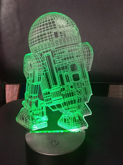3D Acrylic R2D2 nightlight