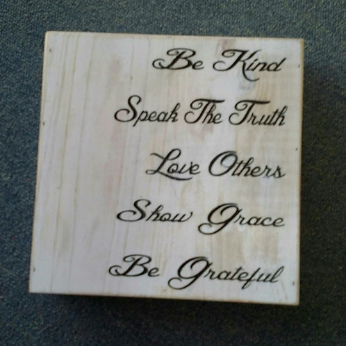 Be kind craft box sign