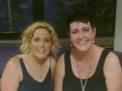 Sian Pearce Gordon with Thinking Out Loud songwriter Amy Wadge