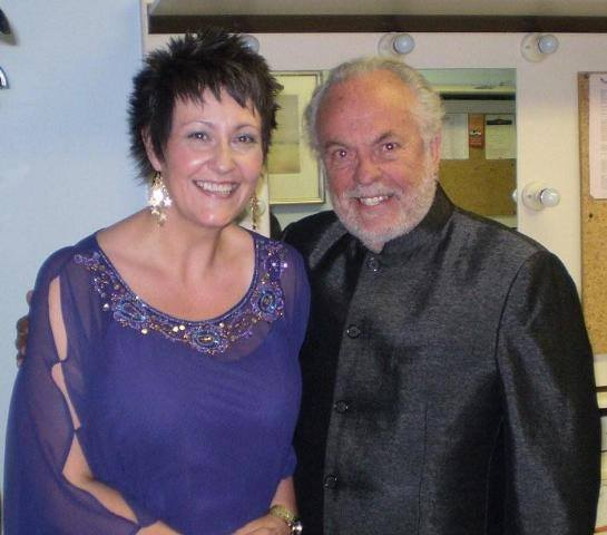 Sian Pearce Gordon with Phillip Madoc