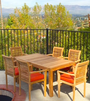 Kissi Teak 7 Piece Dining Set With Cushions