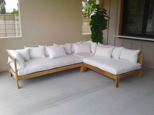 Manhattan Deep Seating Sectional Group With Cushion. Iksun Teak Is Made  From Top Grade Kiln Dried Timber. Constructed Of Mortise And Joinery For  Longevity.