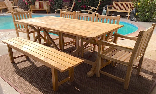 Caracas 7pcs Teak Table Set | Patio Furniture SALE , Teak Outdoor ...
