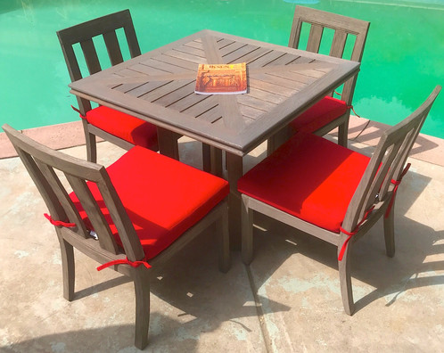 Ventura Teak 5 Piece Dining Set With Cushions