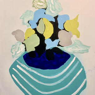 Autumn Flowers, 16x20, acrylic on canvas. $325