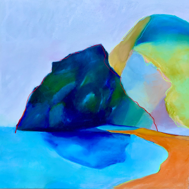 Tennesee valley Beach 36x36, oil on canvas
