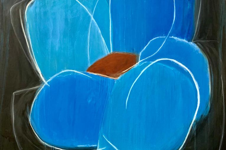 Blue Lotus, 36x36, oil on canvas, $1500