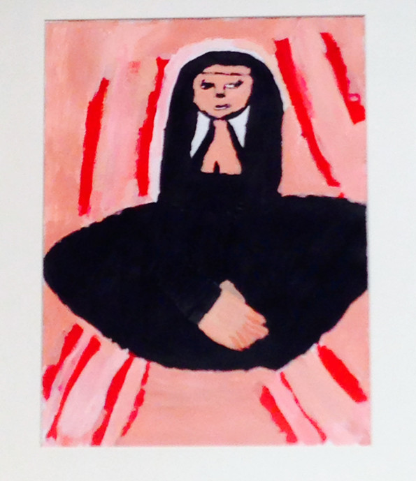 Mother Teresa,11x14,acrylic on paper, NFS