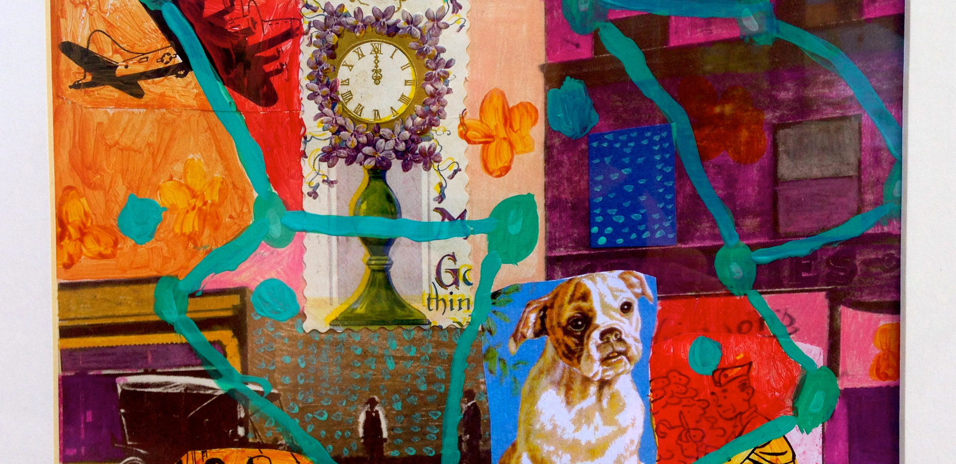Dog Dreams,11x14, mixed media, SOLD