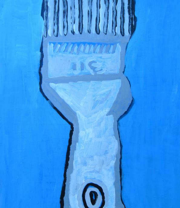 Paintbrush, 8x10, acrylic on paper, SOLD