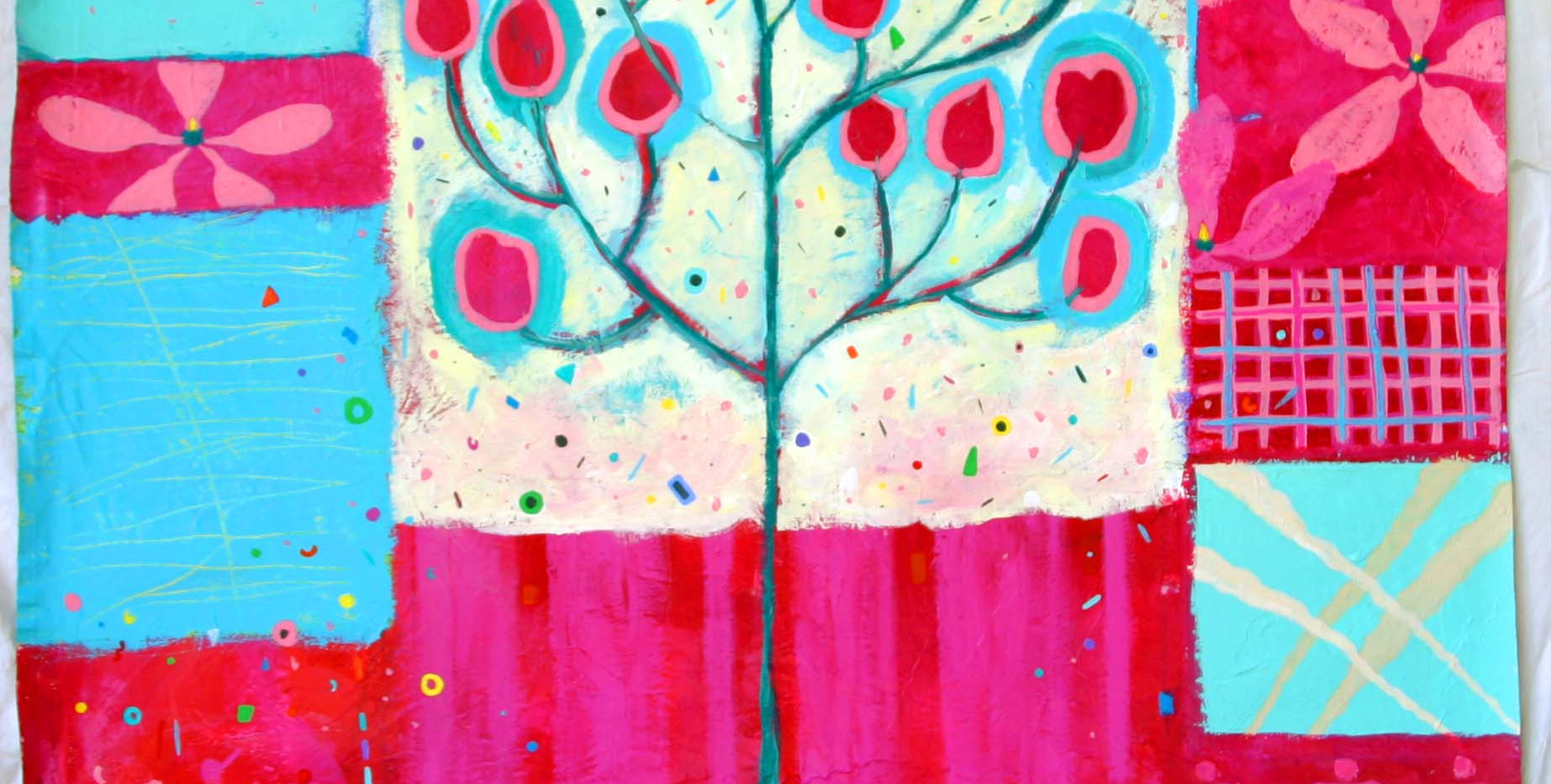 My Magnolia Tree, 3 feet by 4 feet, acrylic on canvas, NFS