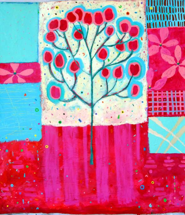 My Magnolia Tree, 3 feet by 4 feet, acrylic on canvas, NFS