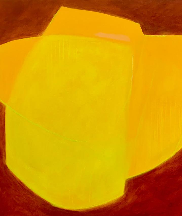 Daffodil, 36X36, acrylic on Canvas.