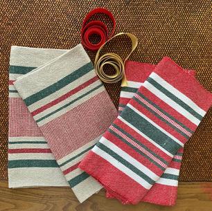 holiday tea towels.