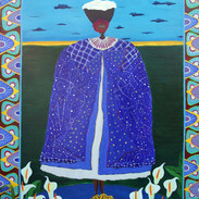 African Laundry Queen, 3 feet by 4 feet, acrylic on canvas