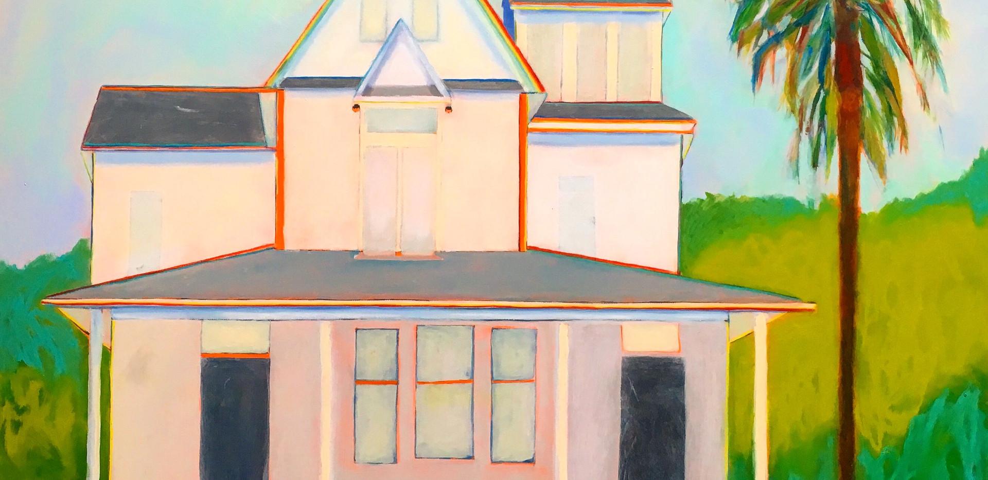 House on Harvard St, 36x36, oil on canvas, $1500