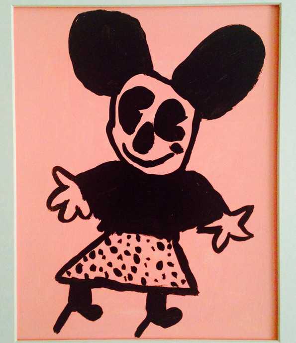 Minnie, 8x10, acrylic on paper, SOLD