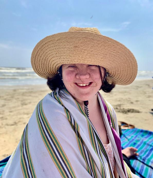 Erin at the beach