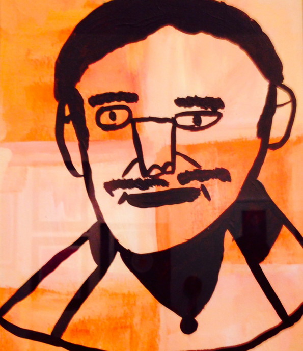 Man,11x14,gouache on paper, NFS