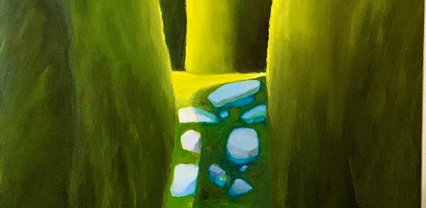 Go Nowhere, oil on canvas, 24x48.