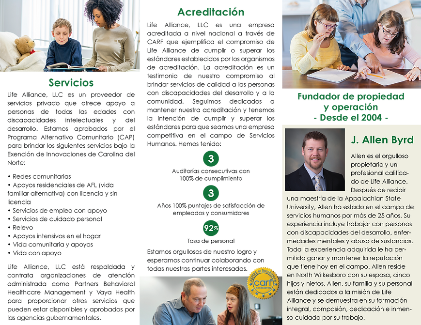 Life Alliance - 2021 Brochure - Espanol