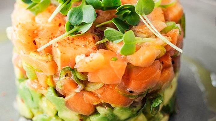 tartare  salmone avocado 100gr