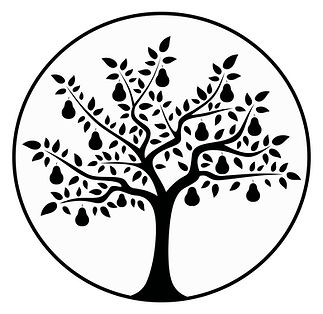 Pear Tree Consignment Company Logo.  The logo is 'Pear Tree' with a circle around it on a white background.