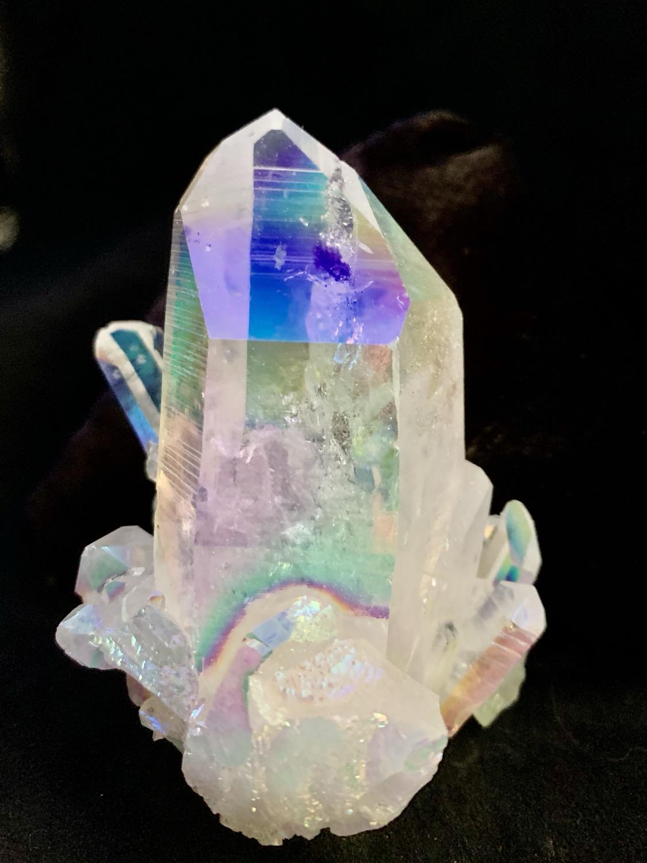 Opal Aura Quartz Cluster