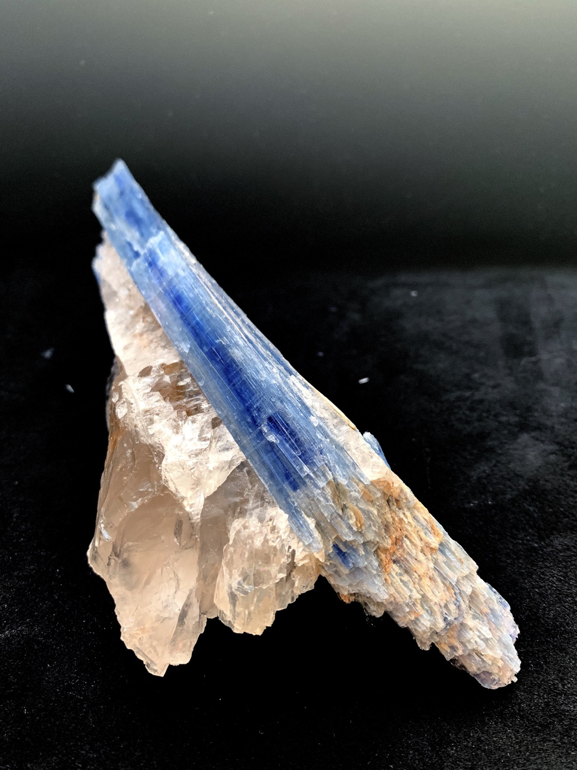 Thumbnail: Kyanite on Quartz