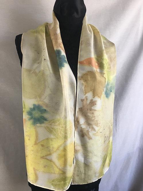 Silk Scarf H11-201 Yellow Loquat