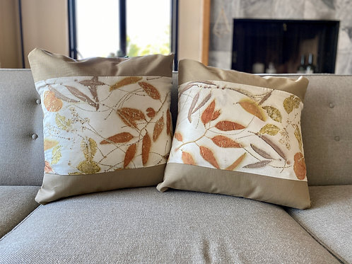 Silk pillowcase, Cushion Cover, set of 2, 18 x 18inch,