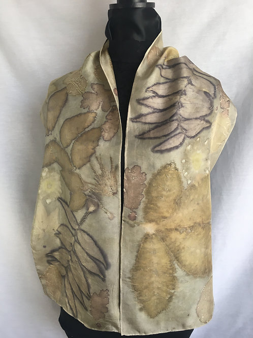 Silk Scarf H11-124 - Mushroom