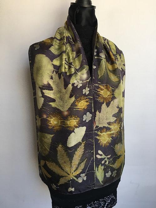 Silk Scarf H11-235 Cannabis Logwood