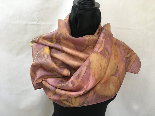 Silk Scarf H14-164 Pink Cochineal