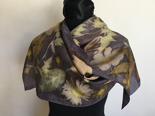 Silk Scarf H14-180 Purple Jasmine