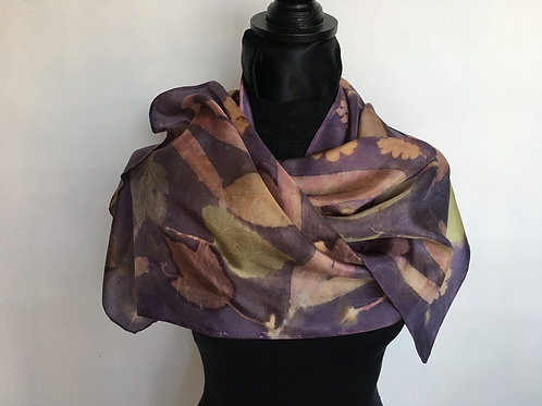 Silk Scarf H14-176 Purple Brazilwood