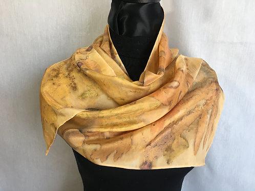 Silk Scarf H11-210 Orange Anatto