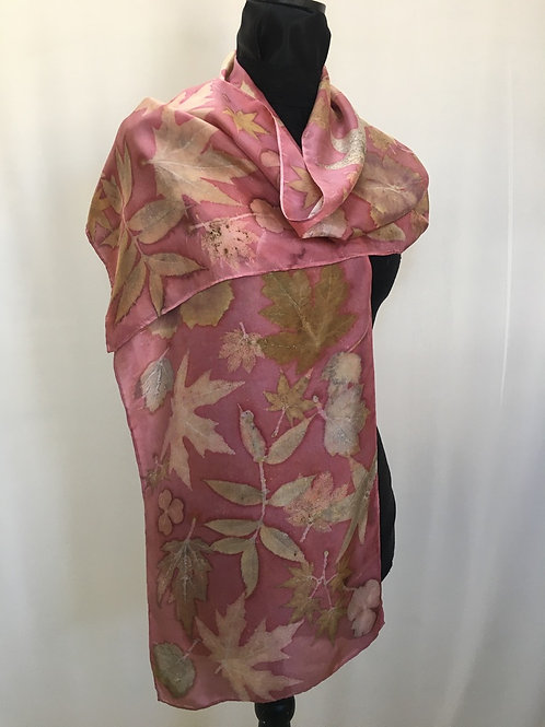 Silk Scarf H14-218 Pink Cochineal