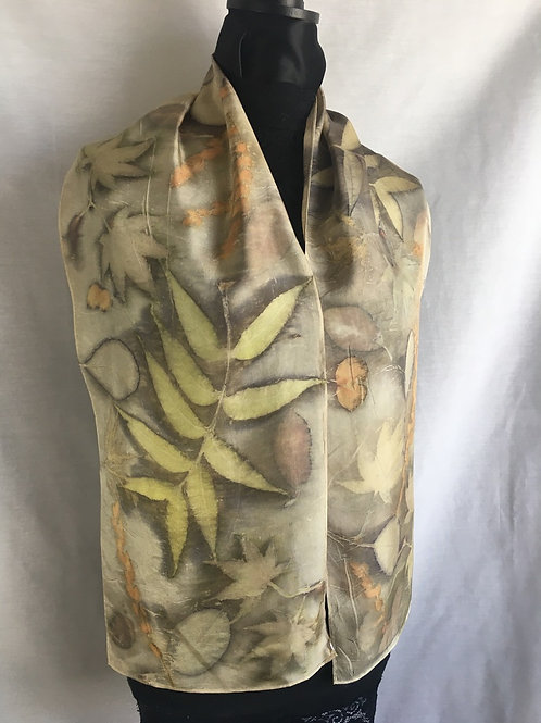 Silk Scarf H11-146 - Mushroom
