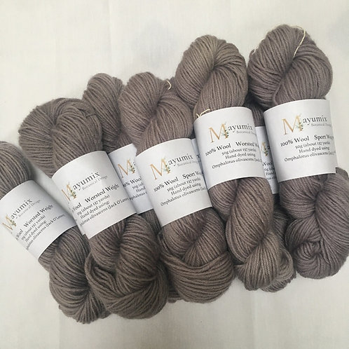 Purple/ lilac, Mushroom dyed 100% sport weight wool