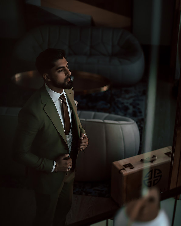 Man wearing custom suit