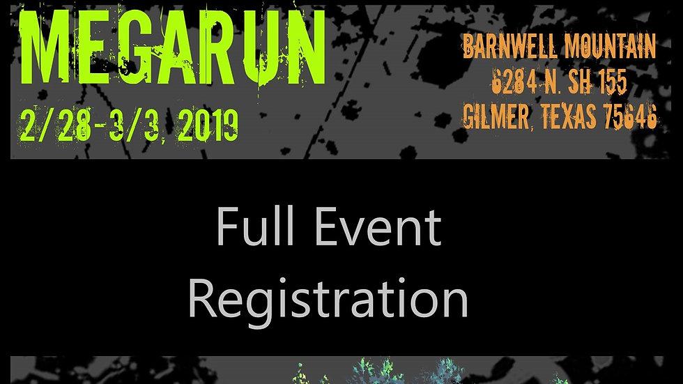 Full MEGA RUN Early Registration