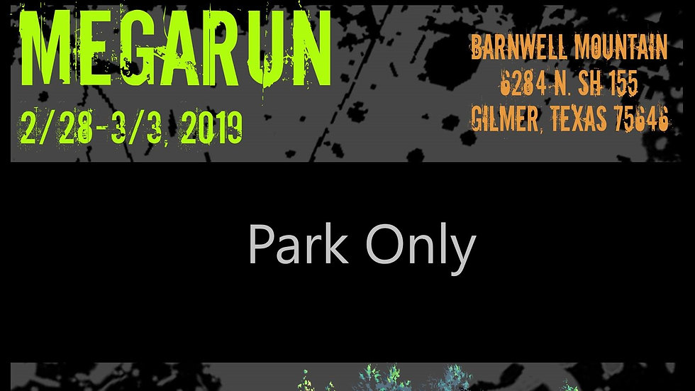 PARK ONLY Early Registration