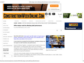 Construction Week Online - Office design could be affecting staff performance