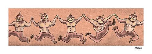 A dança dos demônios, 2009 - série Sem palavras