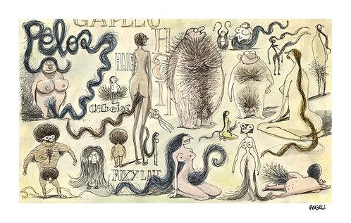 Pêlos, 2004 - série Caderno de esboços