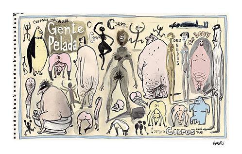 Gente pelada, 2005 - série Caderno de esboços