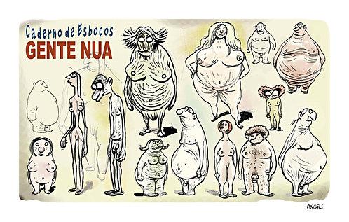 Gente nua, 2003 - série Caderno de esboços