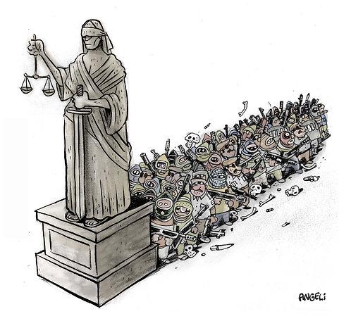 Estátua da justiça, 2003