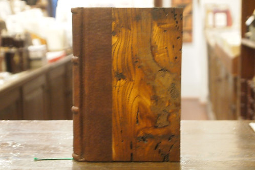 Piccolo quaderno in pelle, legno secolare e carta amalfitana